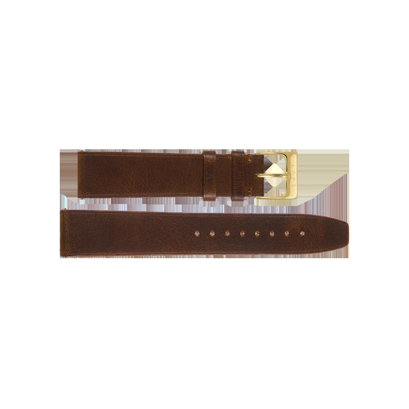 LAPS Bracelet Cuir Cannelle - Or