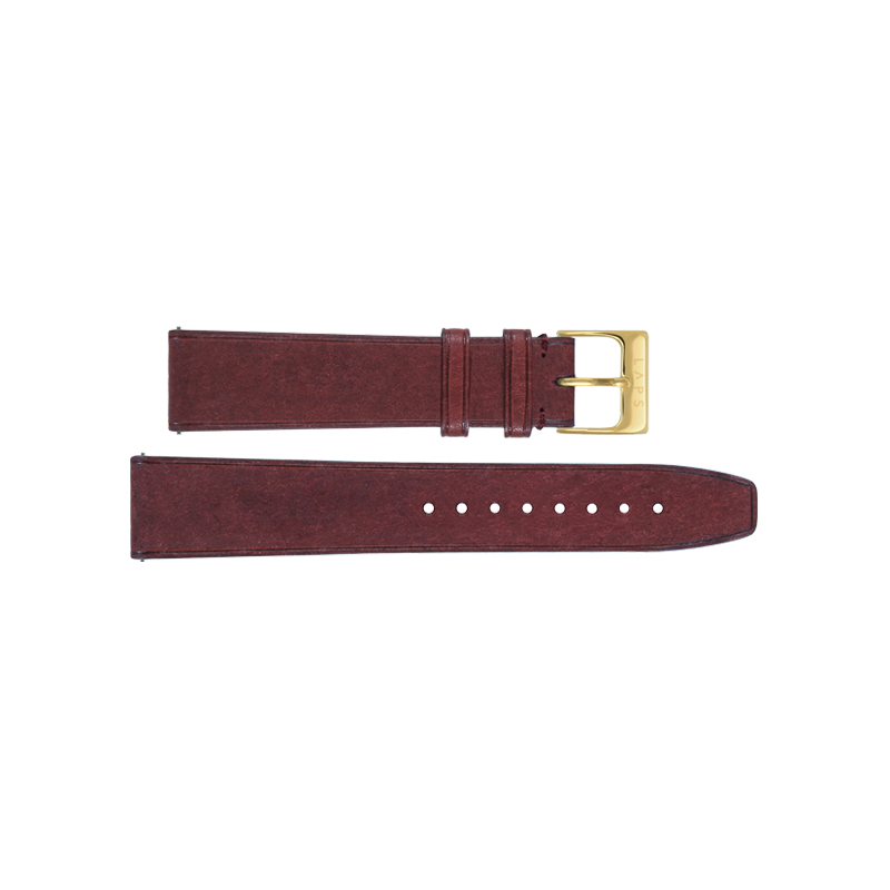 Leather Red 18mm - Gold