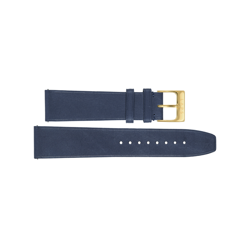 Leather Denim 20mm - Gold
