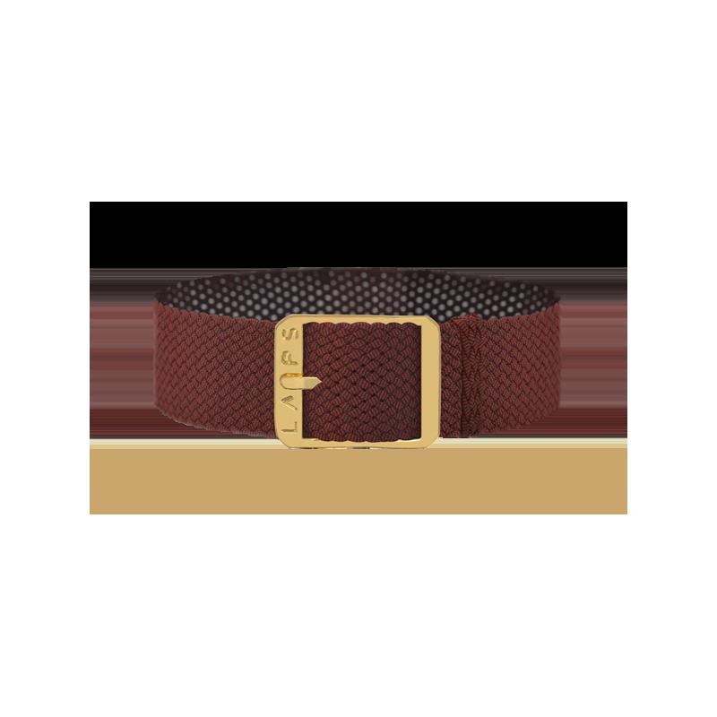 Bracelet perlon de montre LAPS Rouge - or