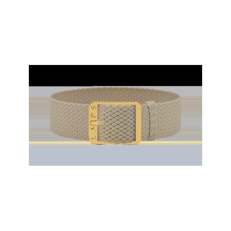 Bracelet de montre LAPS Homme et Femme Beige - Or