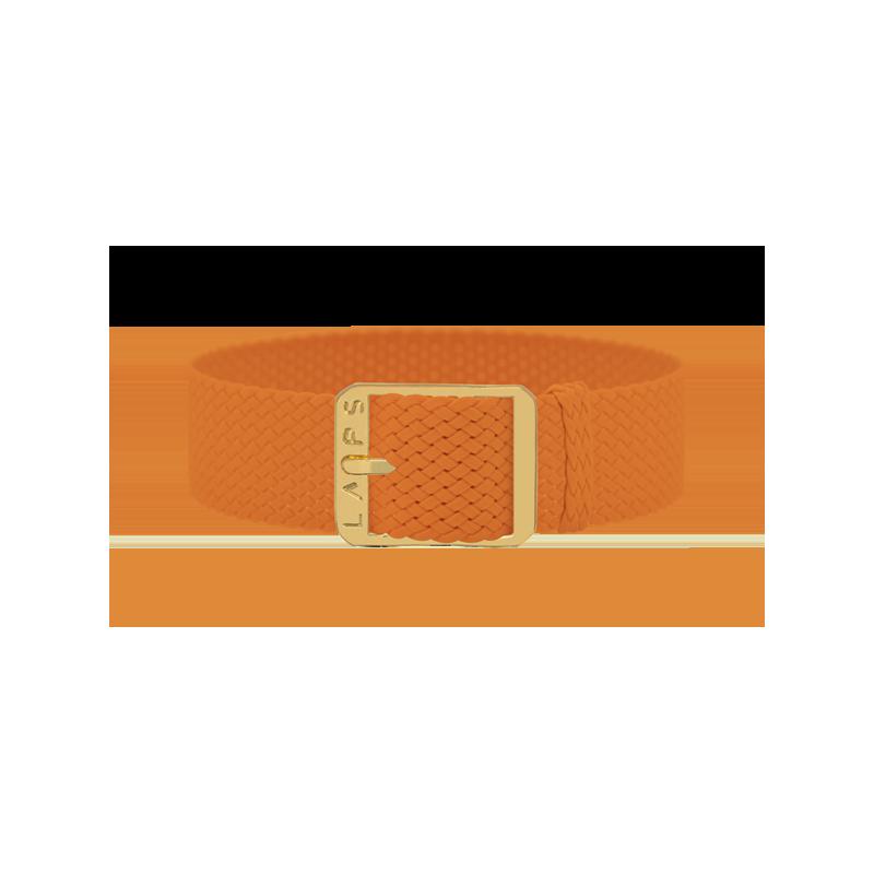 Bracelet perlon de montre LAPS orange - or