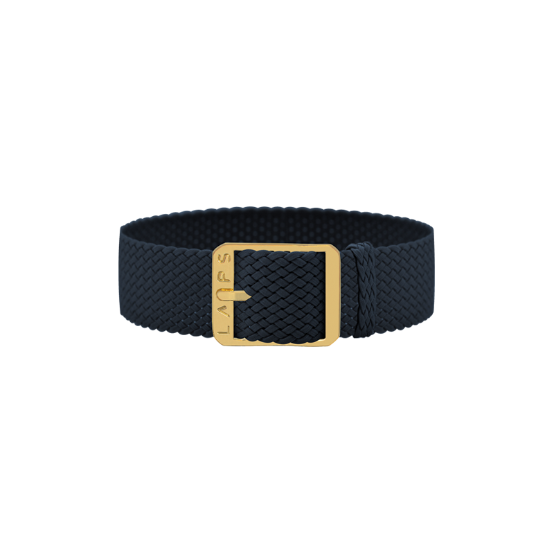 Midnight Blue Wristband - Gold