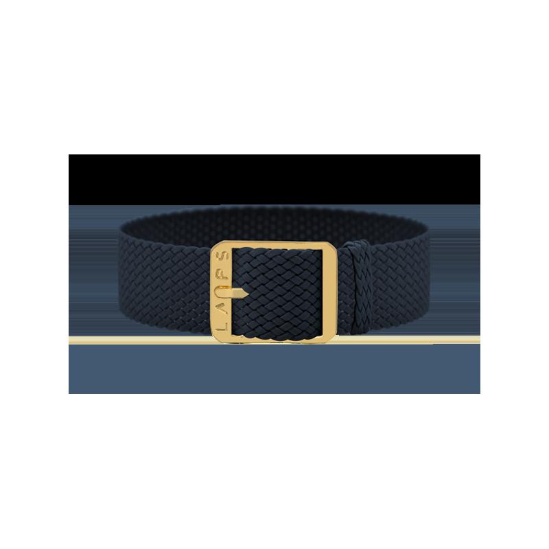 Midnight Blue Wristband - Gold