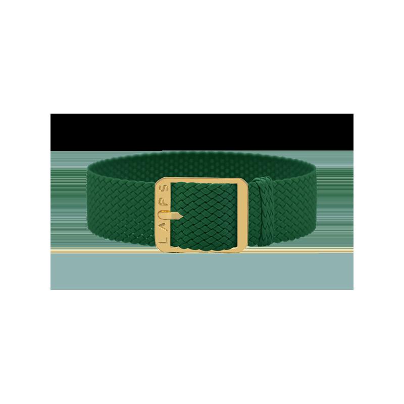 Bracelet perlon de montre LAPS Vert - Or