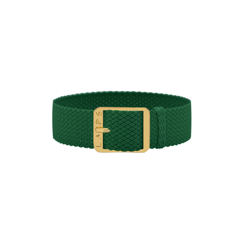 Green Watch Band - Gold