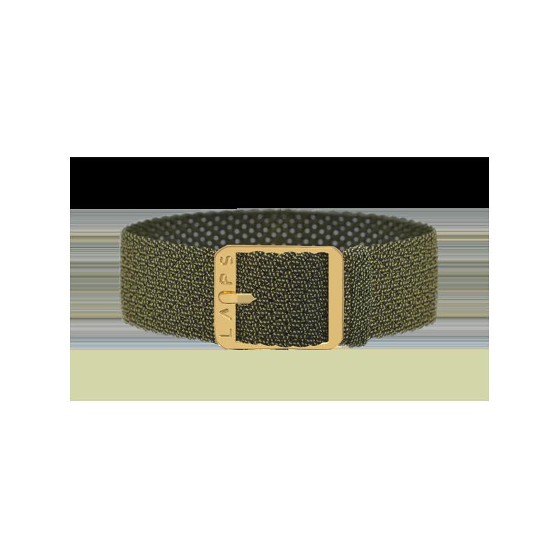 Bracelet perlon de montre LAPS Kaki - or