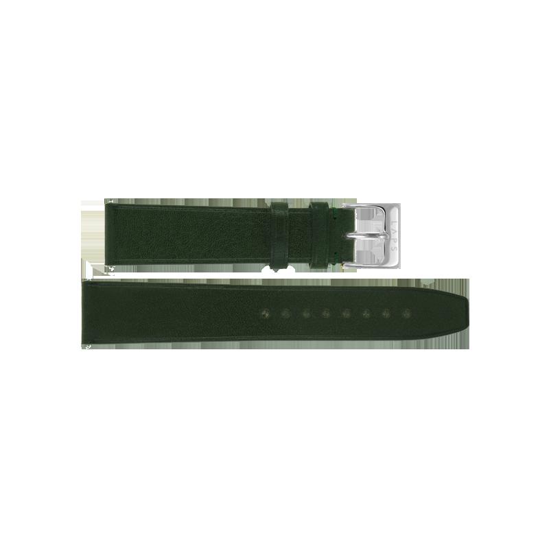 LAPS Bracelet Cuir Vert Empire - Argent