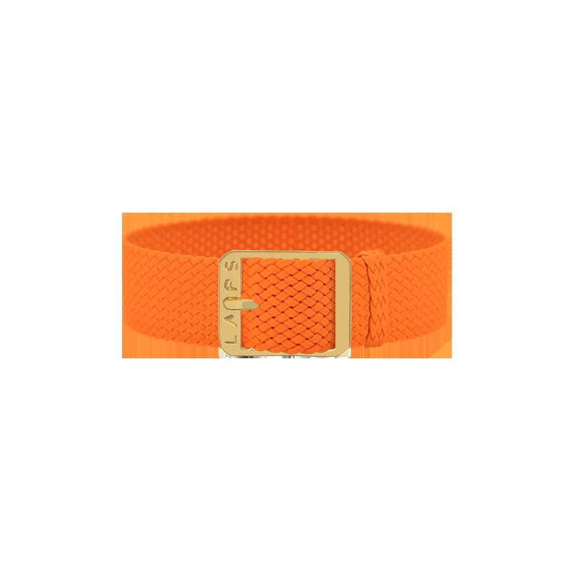 Bracelet perlon de montre LAPS Orange Fluo - or