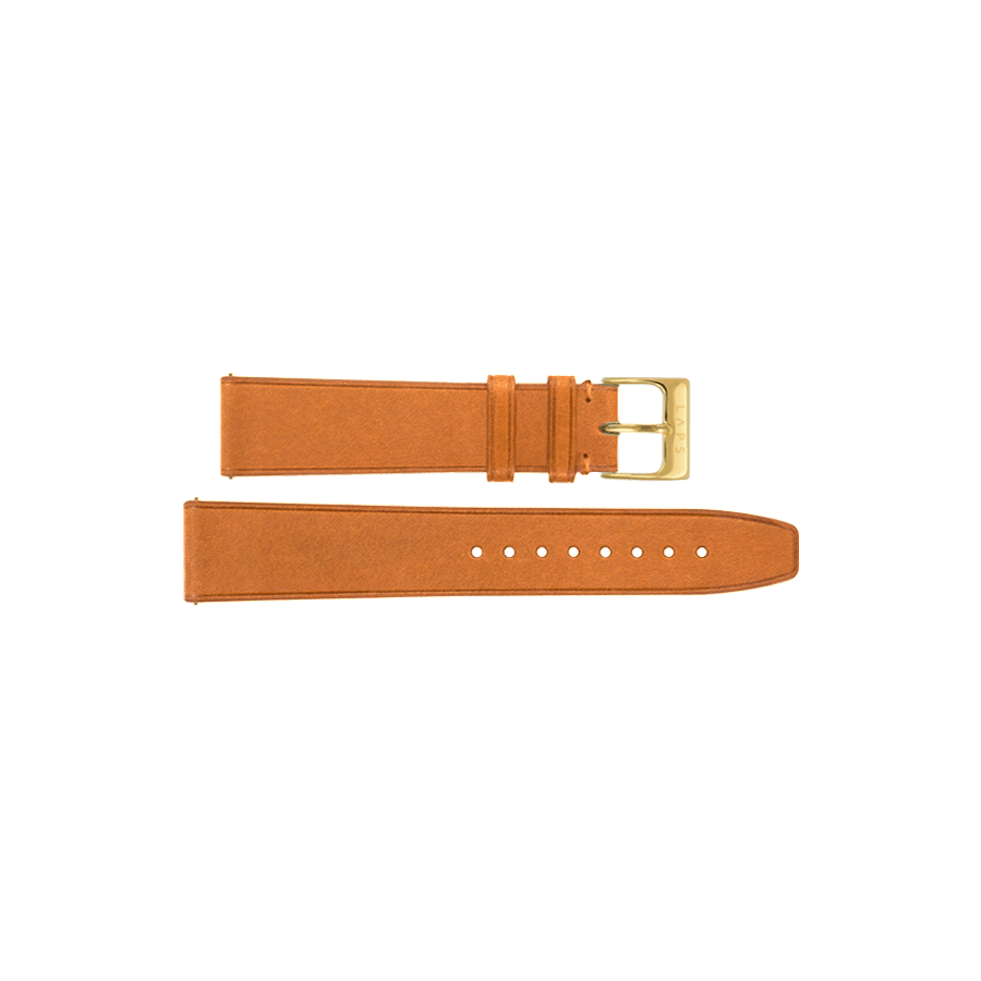 Leather Strap Camel - Gold